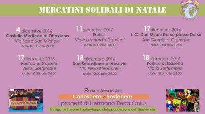 mercatino solidale periodico Hermana Tierra Onlus, Associazione di volontari laici e cristiani operante in Guatemala