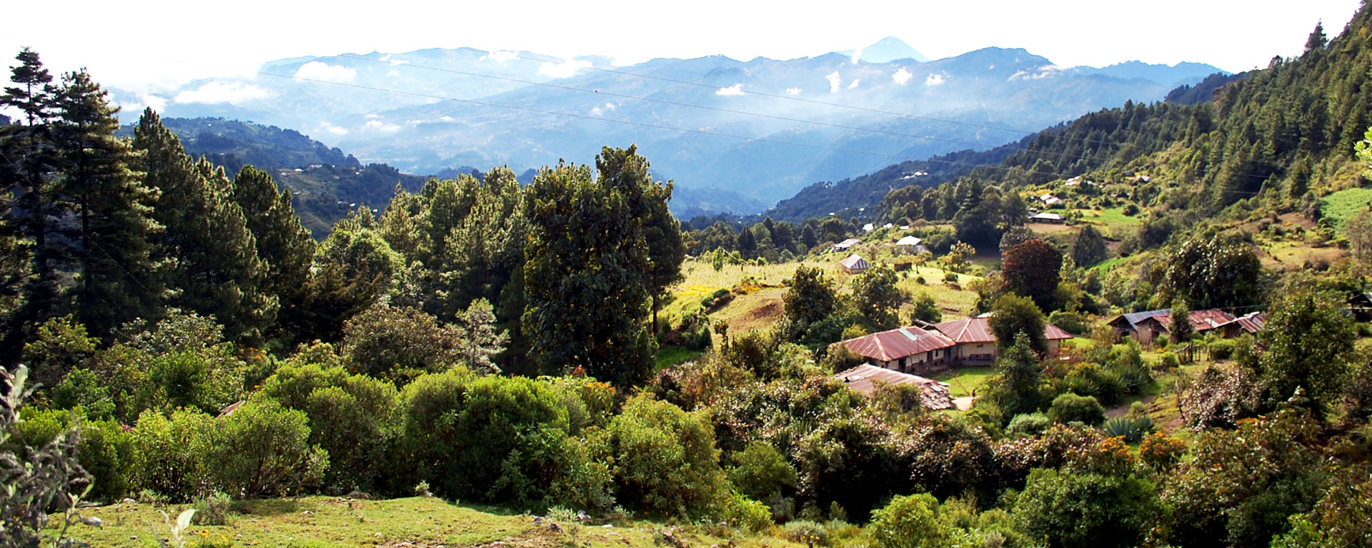 panoramica villaggio tacana guatemala hermana tierra portici