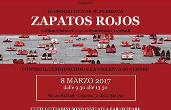 zapatos rojos Hermana Tierra Onlus portici